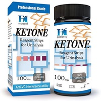 ▶$1 Shop Coupon◀  HK Ketone Test Strips - 100 Urine Strips - Check Ketosis Levels - Track Your Low C
