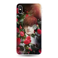 Flower Beauty Male BTS iphone Universal TPU phone case for Apple iphone 8 7 6 6S plus X XS MAX XR 5S