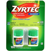 ▶$1 Shop Coupon◀  Zyrtec Zyrtec 24 Hour Allergy Relief, 45 tabs 10 mg(Pack of 2)