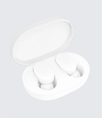 小米藍牙耳機AirDots青春版白色 無線分體式機身設計 拿起即自動開機 觸控操作 全新藍牙5.0