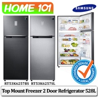 Samsung Top Mount Freezer 2 Door Refrigerator with Twin Cooling Plus 528L [RT53K6257SL][RT53K6257BS]