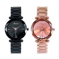 MEIBIN詠嘆情歌花玻璃切面稜鏡光金屬鍊帶手錶WM1285璀璨之星