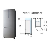 Panasonic NR-BX468XS 2 Door Fridge