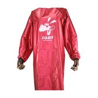 雜貨鋪-TOBY寵物美容服/狗狗洗澡防水圍裙/美容袍/長袖美容工作服送口罩