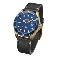 Arbutus ARBR01GUB Analog Automatic Black Leather Men Watch
