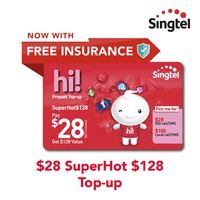 Singtel $28 SuperHot$128 Top-up