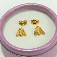 Gold 1314   22K 916 Pure Gold Stud Earrings  22K 916 纯金耳钉