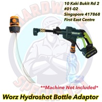 Worx HydroShot Pressure Washer Integrated Water Bottle Attachment