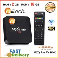 Alitech MXQ Pro 4K New Version Andriod 7.1 Smart TV Box Media Player / 4x ARM Cortek-A7 1.46 GHz / RockChip H3/ WIFI / Lan Port / Support USB / KODI / Free HDMI Cable