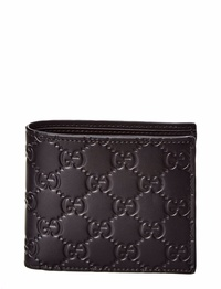 Gucci Mens  Signature Leather Coin Wallet