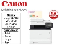 Canon Printer imageCLASS MF735Cx feature rich 4-in-1 Colour Multifunction printer with Double sided copy  ** Free $60 NTUC Voucher Till 24th Feb 2019 ** mf 735cx MF735 cx