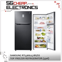 Samsung 2 Door Top Freezer Refrigerator RT53K6257BS/SS - SINGAPORE WARRANTY