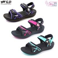 阿亮代言G.P紓壓緩震厚底磁扣兩用涼拖鞋 鞋鞋俱樂部 255-G8686W