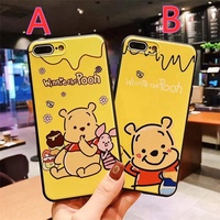 Soft Cartoon Winnie the Pooh Case For Vivo Y55 Y66 Y67 Y71 Y75 Y79 Y81 Y83 Y85 Y91 Y93 Y95 Y97 Case