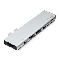 【日本代購】MINIX NEO C-D 新款7合1 USB-C Hub For New MBP 專用 Thunderbolt 3, 4K HDMI-太空灰
