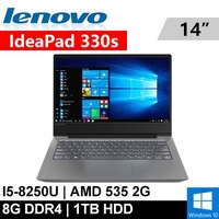 "Lenovo ideapad 330S-50810HTW 14""(i5-8250U/8G DDR4/1TB/RADEON 535 2G/WIN10/FHD)"