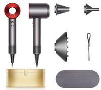 Dyson Supersonic™ Hair Dryer (Iron/Red) with Gold Case