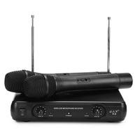 J.I.Y V-2 Dual Wireless Handheld VHF Microphone System LCD Display Mic Karaoke KTV Microphones Upgrade