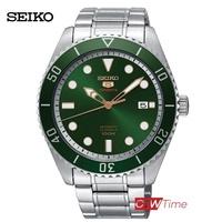 SEIKO 5 Sports Automatic นาฬิกาข้อมือผู้ชาย สแตนเลสแท้ รุ่น SRPB93K1 (สีเขียว)