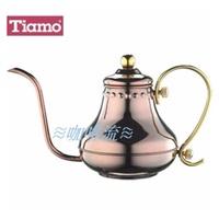 ≋咖啡流≋ Tiamo 不鏽鋼 宮廷式 細口壺 0.42L 玫瑰金 HA8562