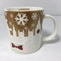 英國🇬🇧星巴克倫敦耶誕限定金浮雕城市杯 LONDON城市馬克杯 Starbucks