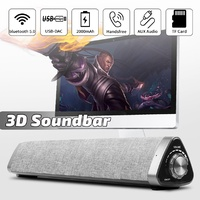 2000mAh bluetooth 5.0 Soundbar USB-DAC Stereo Speakers TV Home Theater Subwoofer