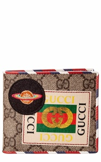 Gucci Mens  Courrier Gg Supreme Canvas & Leather Wallet