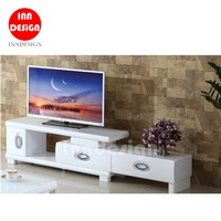 Asley Extendable TV Console / TV Cabinet (Glass Top)