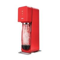 SodaStream SOURCE氣泡水機 -紅色/白色 全新自動扣瓶裝置 【贈原廠可樂糖漿】