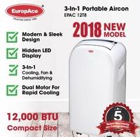 EuropAce 12000 BTU European Design Portable Aircon EPAC12T8