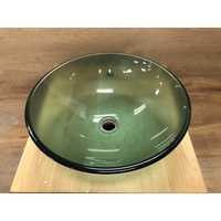 強化玻璃面盆 洗臉盆 上盆 碗公盆 圓形(GBA12S-S)
