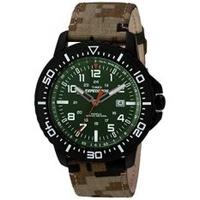 Timex Mens T49965 EXPEDITION Uplander สีเขียว Camo นาฬิกาสายผ้า