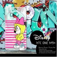 迪士尼授權正版 HTC One M9+ M9 Plus 街頭系列透明軟式手機殼(帽T米妮)