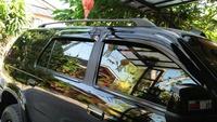 Leasing แร็คหลังคา ไม่เจาะ มิตซูบิชิ ปาเจโร่ MITSUBISHI PAJERO(สีดำ) (1 คู่) อุปกรณ์เสริมสำหรับตกแต่งรถยนต์ ราวหลังคา Mitsubishi PAJERO อะไหล่เสริมรถยนต์ อุปกรณ์สำหรับตกแต่งภายนอกรถยนต์  อุปกรณ์ดีมีคุณภาพได้มาตรฐานยานยนต์ + แถมฟรียางกันกระแทก
