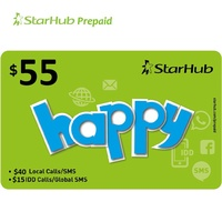 Starhub Happy 55 Prepaid Top-Up. 55 Value for only 15