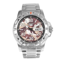 SEIKO 5 MONSTER AUTOMATIC DIVER SRP221K1 STAINLESS STEEL SILVER MENS WATCH