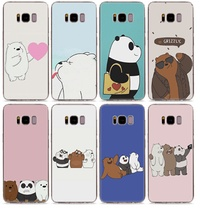 Phone case we bare bear TPU Silicone Soft Phone Case for Samsung + Free Shipping