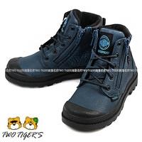 【經典款】Palladium Waterproof 深藍色 皮革防水短靴 中大童靴 NO.R2237 (第2波補貨)
