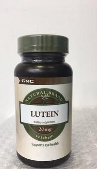 GNC 葉黃素 Lutein 20mg 60顆