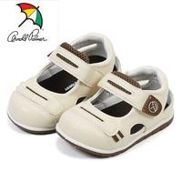 寶寶鞋/雨傘牌ARNOLD PALMER真皮鞋墊護趾透氣鞋.學步鞋(853233)米13-15.5號