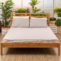 【日本irodori 一路多利】寢具3件組  雙人/加大涼感保潔墊+涼感枕頭墊(兩入) 涼感紗 防臭抗菌