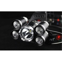 T6五頭燈 不含電池 爆閃亮T6五頭定焦_防水頭燈 飛機頭頭燈5T6強光五頭定焦釣魚led五燈XXXXXXXXXXXXX