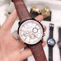 Montblanc手錶 萬寶龍時尚流行男錶情侶錶 萬寶龍腕錶三眼計時手錶 配件齊全 非阿曼尼