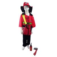 兒童職業服 消防員角色扮演 兒童消防衣