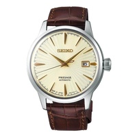 SEIKO PRESAGE COCKTAIL AUTOMATIC SRPC99J1 LEATHER SILVER MENS WATCH