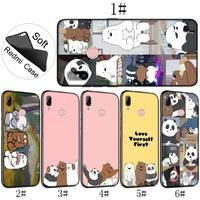Xiaomi Redmi 4A 4X 5A Note 5 Pro Soft Cover Comic We Bare Bears Phone Case