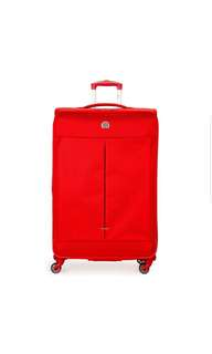 "DELSEY Paris Delsey Air Adventure 29"" 29 Inch large Expandable Spinner Luggage Suitcase Red"