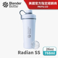 【Blender Bottle】Radian 不鏽鋼搖搖杯(附專利不銹鋼球)●26oz/時尚白(BRS2618-02)●