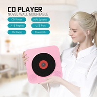 Wall Mountable CD Player Portable Bluetooth Music Player with Remote Control