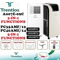 Trentios/Avolta Portable Aircon 10000BTU/12000BTU (Include Air Freshener/Dehumidifying)